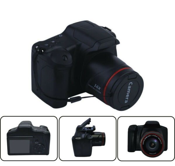 Digital SLR Camera 3.0 Inch TFT LCD Screen 16X Zoom HD 16MP 1080P Anti shake