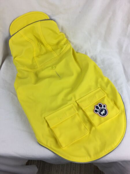 Canada Pooch CP01455 Yellow Hooded Lined Dog Rain Slicker size 14