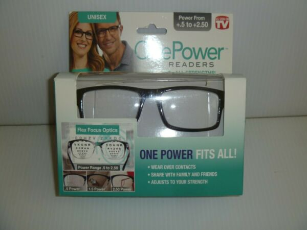 Onepower As Seen On Tv Black Reading Glasses From +.5 - +2.5