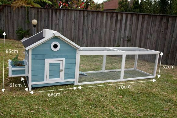 Seny Wooden Chicken Coop Rabbit Hutch Cage with Run and Nesting Box