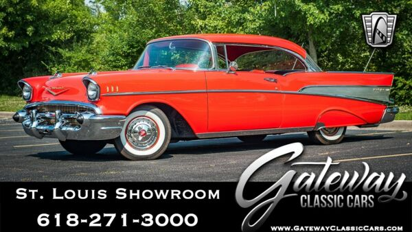 1957 Chevrolet Bel Air150210  Red 1957 Chevrolet Bel Air Coupe 283 CID 3 on the tree Available Now!