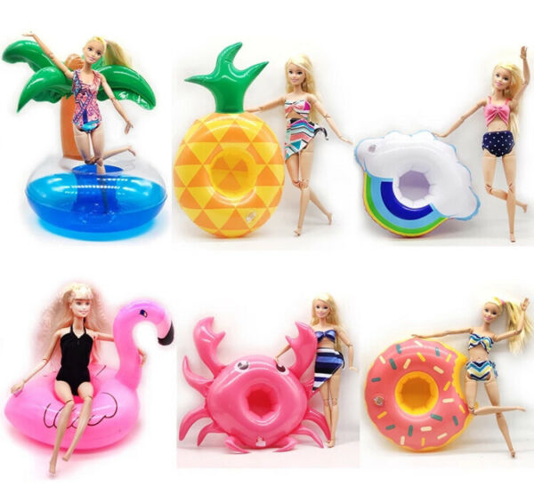 5 Barbie Or LOL Doll Inflatable Float For Swimming Pool or Used As Furniture