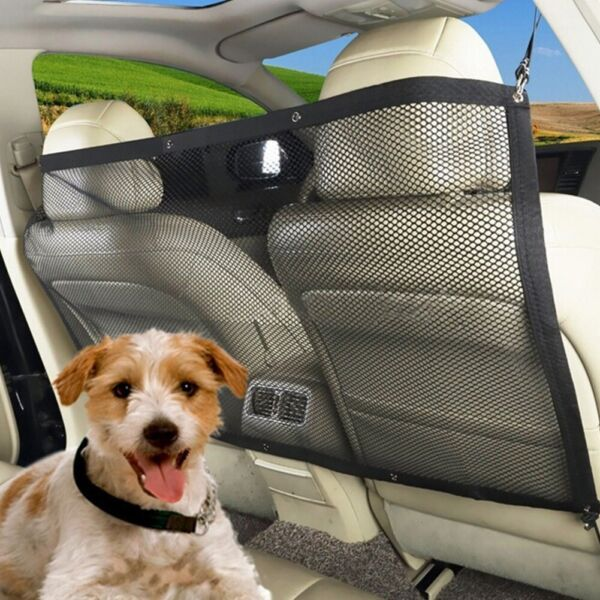 Pet Puppy Dog Barrier Car Back Seat Fence Isolation Net Safety Travel Mesh Guard $14.78