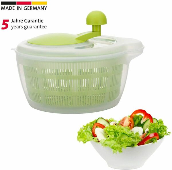 Westmark Germany Vegetable and Salad Spinner with Pouring Spout Green Clear