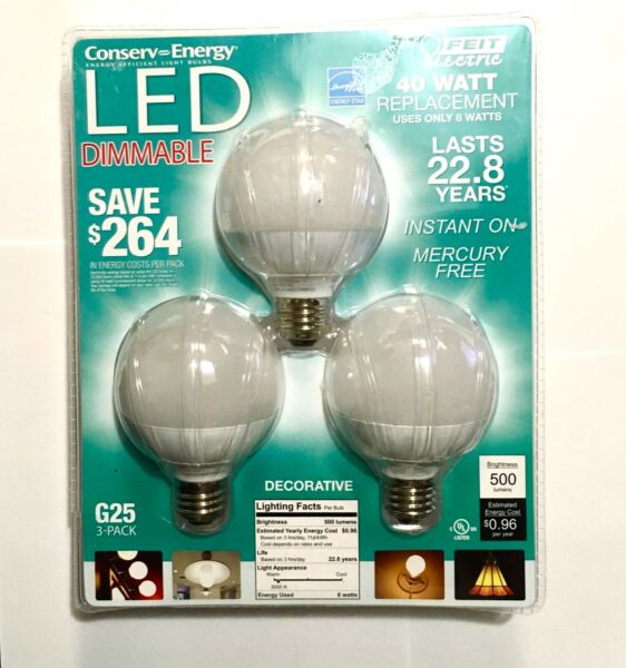Feit Electric 40 Watt Replacement Dimmable Decorative Bulbs M23B $17.52