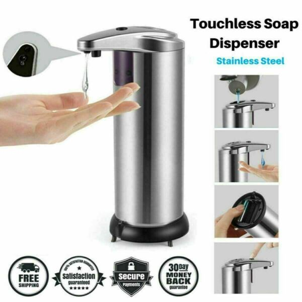 Stainless Steel Automatic Soap Dispenser Touchless Smart Infrared Motion Sensor $17.49