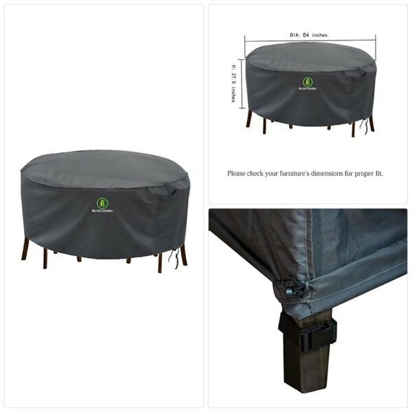 Outdoor Patio Furniture Covers Waterproof UV Resistant Anti Fading Cover for La $59.39