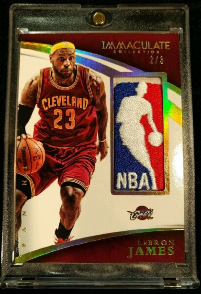 2014-15 Panini Immaculate Lebron James Game Used NBA Logoman Patch Jrsy #23 11