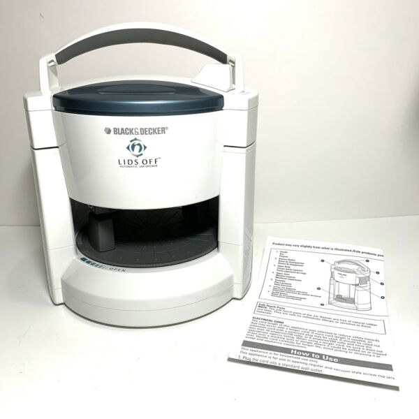Black & Decker Lids Off Automatic Electric Jar Opener JW200 White Gently Used $12.34