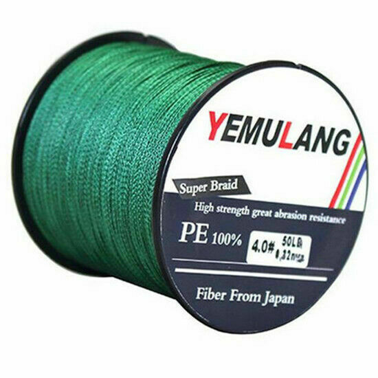 100% PE Fishing Line 100M 300M 500M 1000M 4 Strands Spectra Dyneema Braid Green
