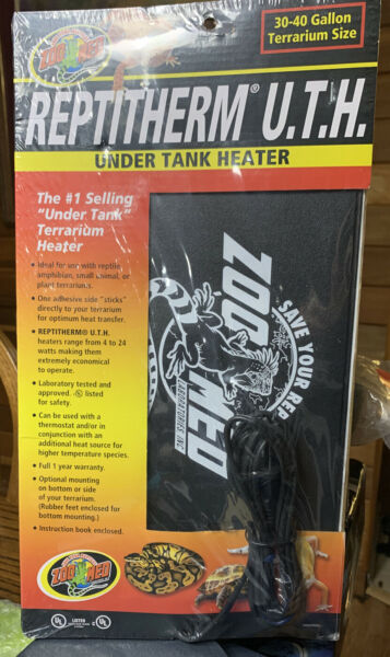 Zoo Med Reptitherm Under Tank Heater UTH 30 40 Gallon 8x12quot; $18.00