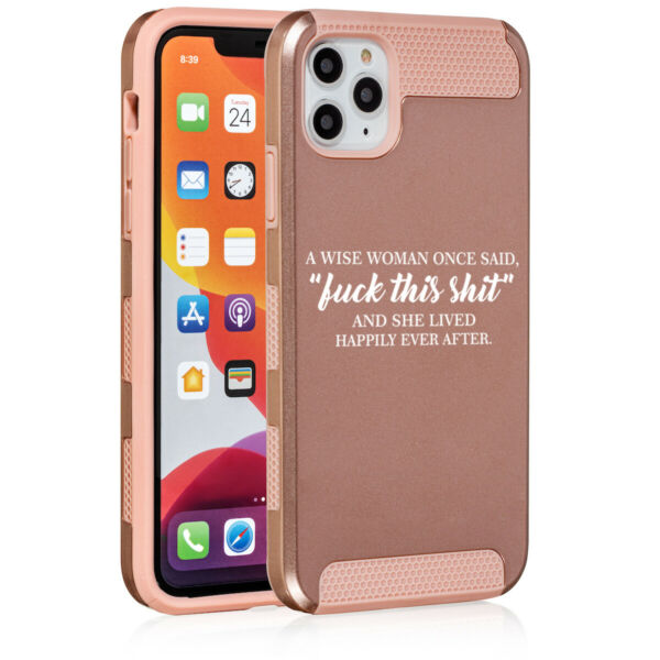 For Apple iPhone 11 Dual Layer Shockproof Hard Case Cover Wise Woman Funny $14.99