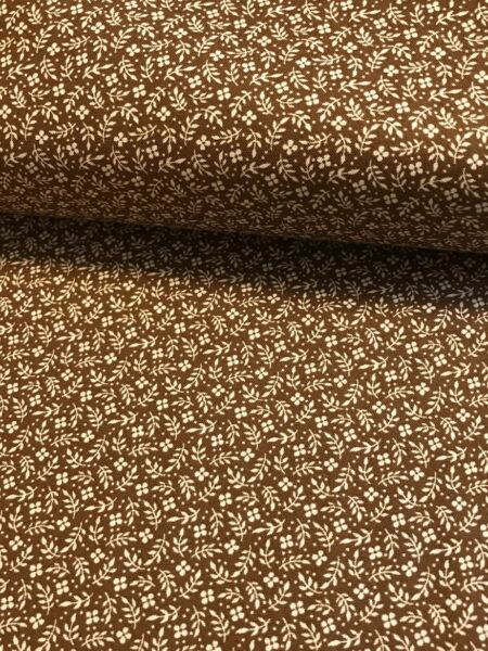 Brown Meadow Calico Coordinating quilters cotton Fabric per yd sew craft 44