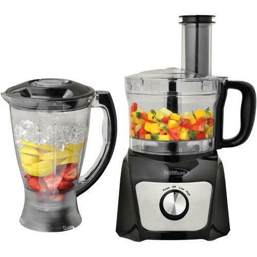 Premium Combo Food Processor 64 oz Blender 50 oz with multi function 500W