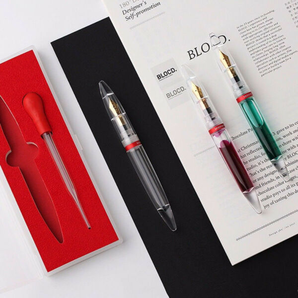 Moonman M2 Transparent Fountain Pen Extra Fine Nib W box for Birthday Gift