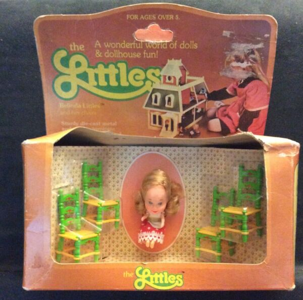Mattel The Littles Belinda Littles & Her Chairs Sealed Vintage Toy Doll