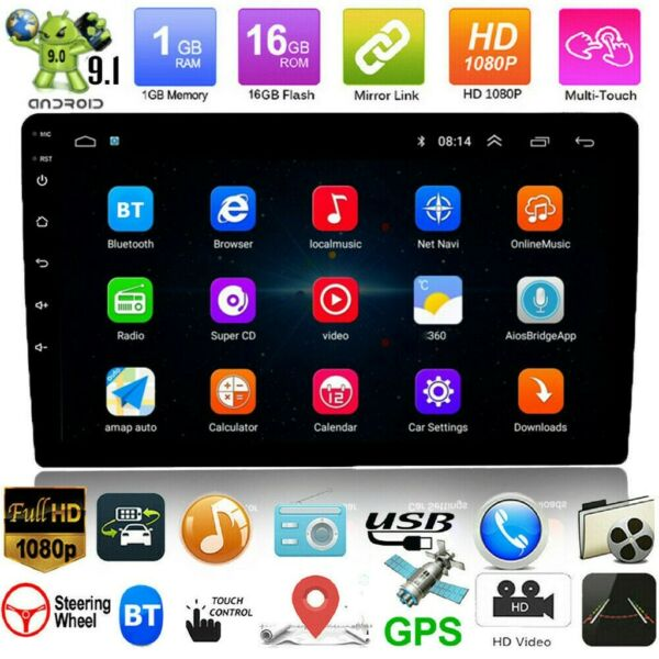 10.1quot; Android9.1 Car Stereo GPS Navi MP5 Player Double 2Din WiFi Quad Core Radio $133.99