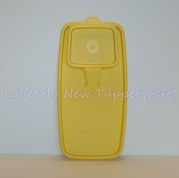Tupperware Replacement Super Cereal Storer Lid NOS Gold'n Yellow New