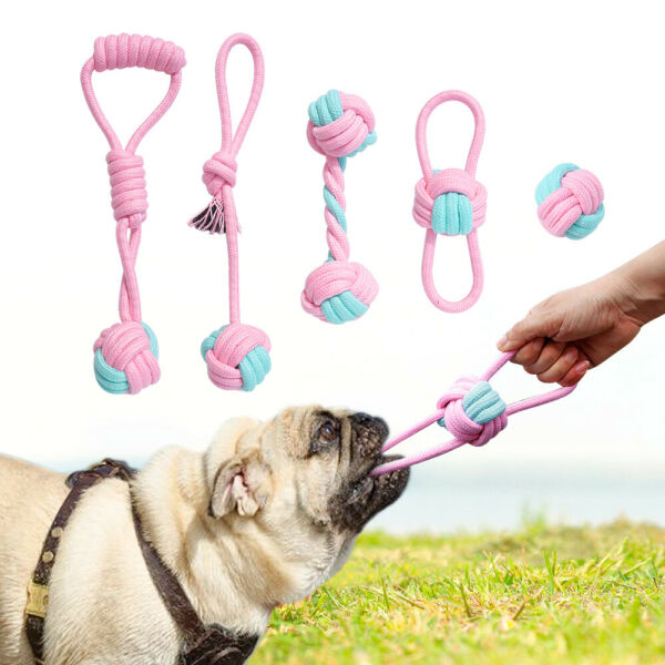 Dog Tough Chew Toys for Large Dogs Cotton Rope Interactive Playing Toy Durable $9.99