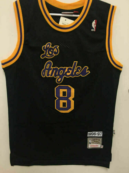 BRAND NEW Kobe Bryant #8 Hardwood Classics Los Angeles Lakers Men's BLACK Jersey