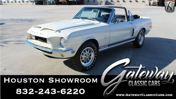 1968 Ford Mustang Shelby GT500 Wimbledon White  1968 Ford Mustang Numbers Matching 428 CID V8 3 Speed Automatic
