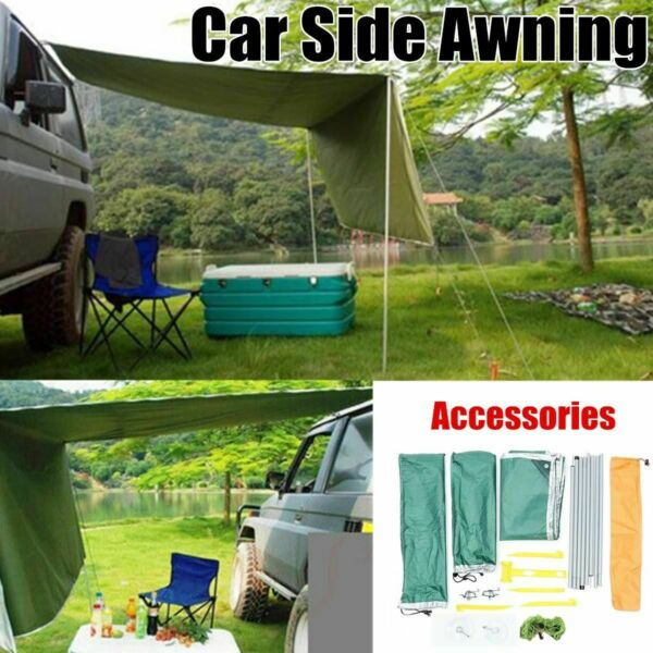 Outdoor Sunshade Canopy Car Tent Awning Rooftop SUV Truck Camping Travel Shelter $65.99