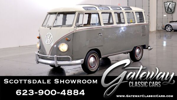 1958 Volkswagen Samba 23 Window Bus Mouse Gray and White 1958 Volkswagen Samba  Bus 1600CC 1-4 4 Speed Manual Availa
