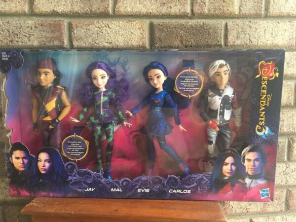 Disney Descendants 3💗Isle of the Lost Collection 4 Doll Set CARLOSJAYMALEVIE