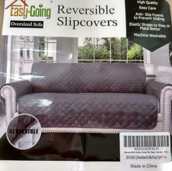 Easy Going Oversized Sofa Slipcover Reversible Couch Cover Water Resistant Gray $14.00