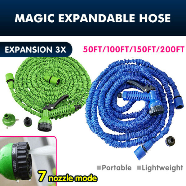 US 50 200FT 3X Expandable Flexible Multi function Garden Water Pipe Hose HOT