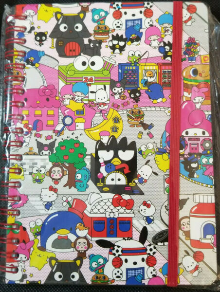 HELLO SANRIO *HELLO KITTY* KAWII LIMITED EDITION JOURNAL W PUFFY STICKERS *NEW*