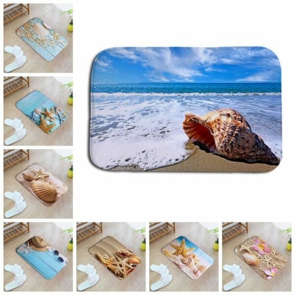 Creative Sea Pattern 3D Printed Hallway Entrance Outdoor Mats Children Rooms Rug