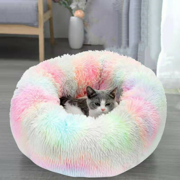 Pet Cat Small Dog Basket Soft Bed Met House Artificial wool S L Free Shipping $29.90