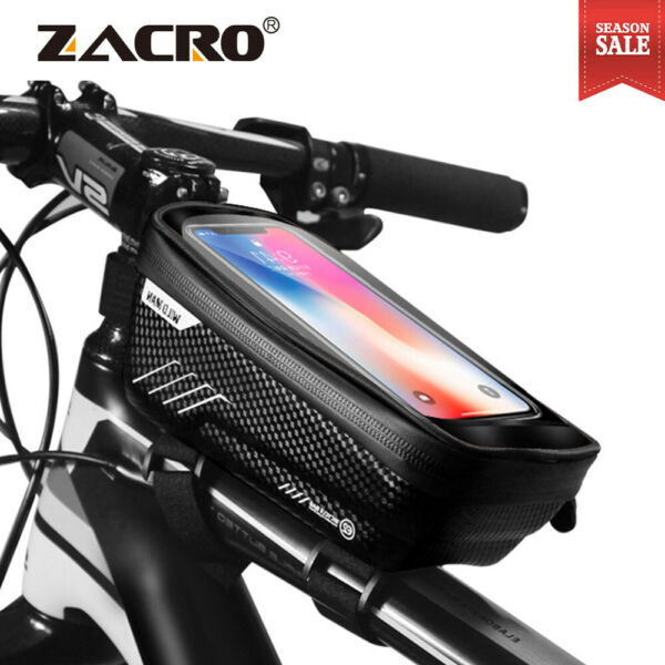 Bicycle Bag Waterproof Front Frame Bycicle Cycling Top Tube Bag Bike Accessories $29.97