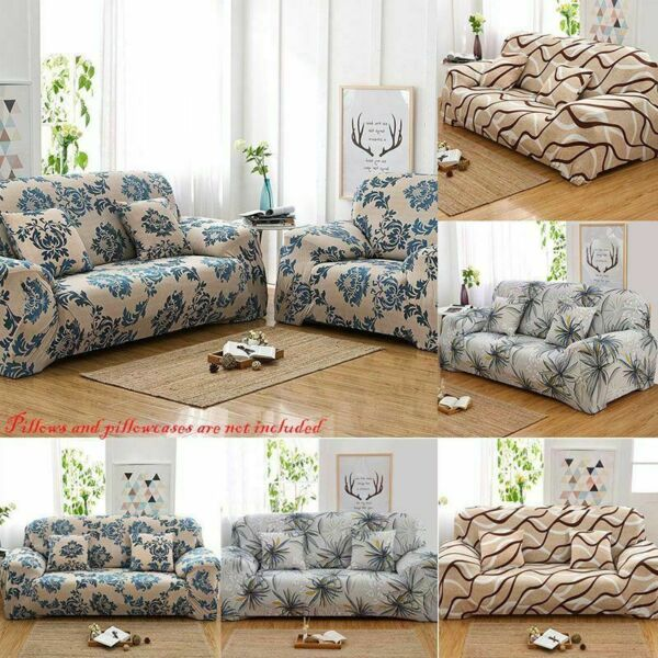 Sofa Covers 1 2 3 4 Seater Spandex Stretch Couch Cover Furniture Protectors US $19.00