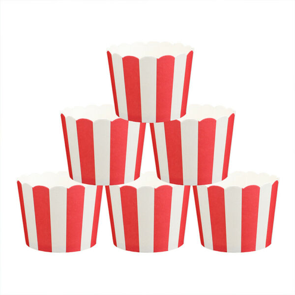 25Pcs Paper Cupcake Liners Muffin Molds Case Cake Paper Baking Cups For Popcorn