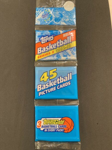 1992 Topps Basketball Series 2 Rack Pack With Shaquille O'neal Rookie $80.00