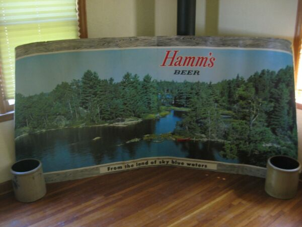 Hamms Beer Sign Canoe 4 x 8 Ft.