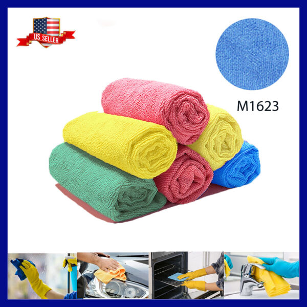 U Clean 12 Microfiber Cloth LARGE 16quot; Durable ABSORBENT Home Cleaning Towels $11.99