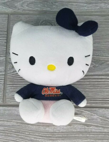 Ole Miss Rebels Hello Kitty by Sanrio Plush Stuffed Animal Toy 6quot;