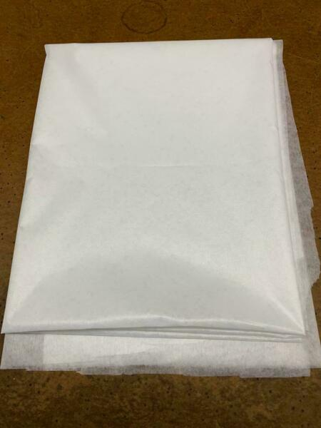 60quot; fabric 4 yard non woven LIGHT WEIGHT FUSIBLE Interfacing White for Mask
