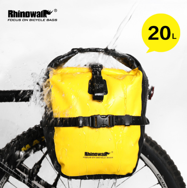 Rhinowalk 20L Bicycle Pannier Bag Bike Trunk Pack Bag Expandable Waterproof Bag $53.99