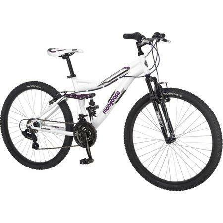 Mongoose 26quot; Ledge 2.1 Women#x27;s Mountain Bike 21 Speed White Purple $258.95