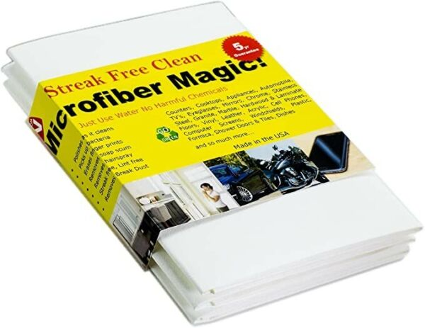 Microfiber Magic Streak Free Window Cleaning Cloth Cleans with Just Water $9.99