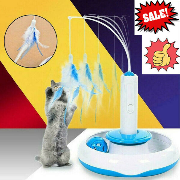 Pet Cat Feather Toy Feather Rotating Accessories For Electric Rotary Turntable $1.95