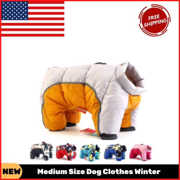 Medium Size Dog Clothes Winter Waterproof Pet Dog Warm Jacket For Small Puppy $20.40