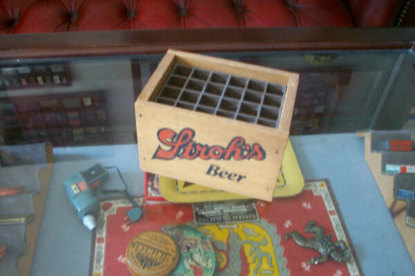 Mini Wooden Strohs Beer Crate