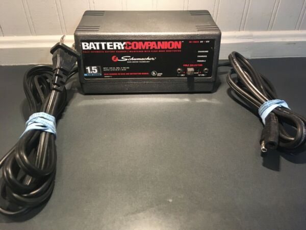 Schumacher Battery Companion 1.5 AMP Slow Charger Battery Maintainer 6V amp; 12V