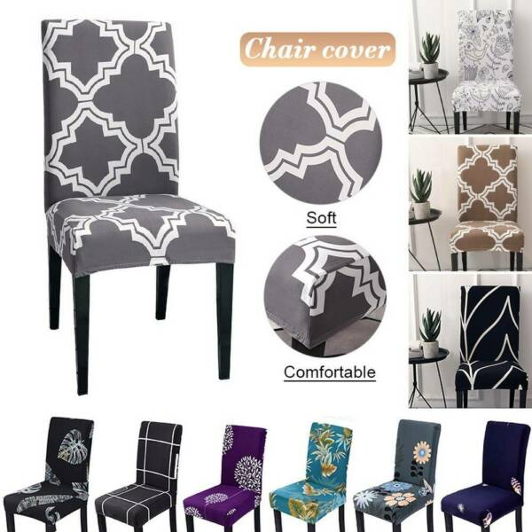 Stretch Spandex Chair Cover Seat Slipcover for Dining Wedding Banquet Home Decor $4.69