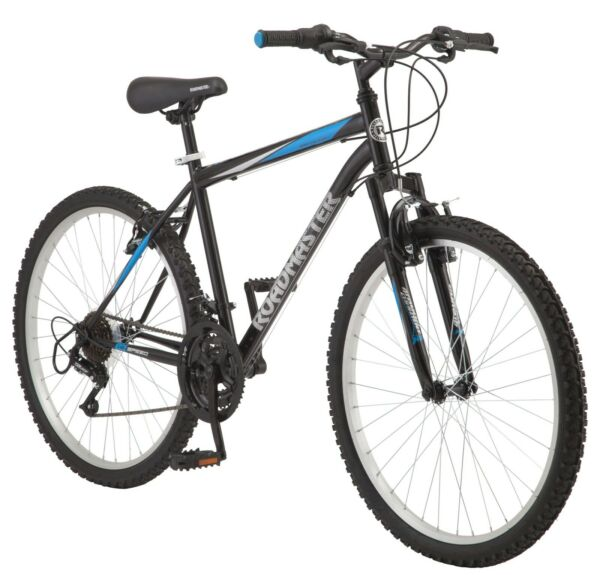 Roadmaster Granite Peak Mens Mountain Bike 26inch Wheels Black Blue Ships Free $174.84